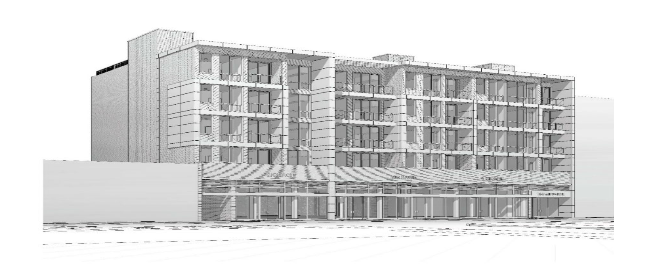 5-story, 49,900 SF mixed-use apartment