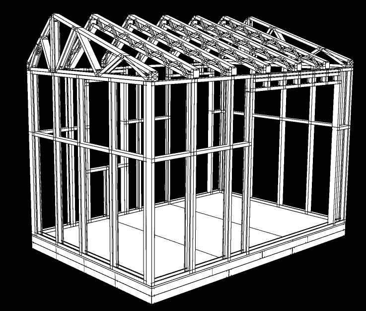 metal stud office pod